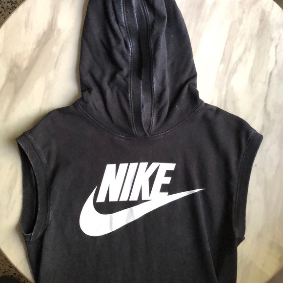 Nike sleeveless hoodie